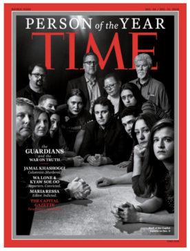 Time cover showing journalists around a table